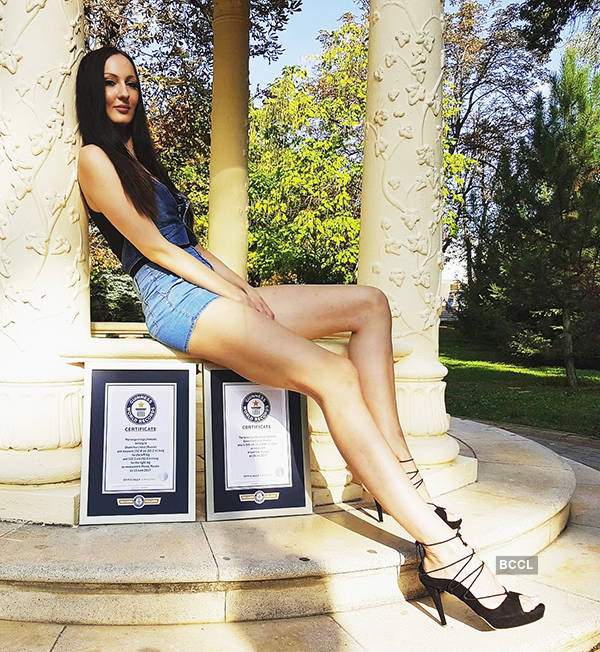 Ekaterina Lisina woman with longest legs in the world russian model pook