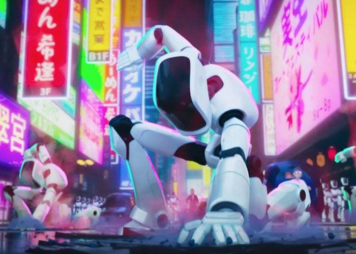 Connected the animation movie, the robots