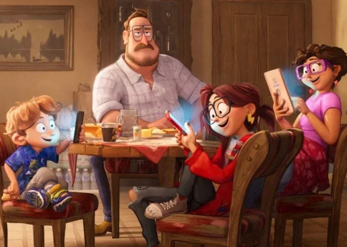 Connected the animation movie, the family
